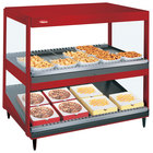 Hatco GRSDS/H-30DHW Warm Red Glo-Ray 30 inch High Wattage Horizontal / Slanted Double Shelf Merchandiser