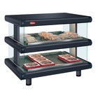 Hatco GR2SDH-48D Black Glo-Ray Designer 48 inch Horizontal Double Shelf Merchandiser