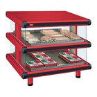 Hatco GR2SDS-30D Warm Red Glo-Ray Designer 30 inch Slanted Double Shelf Merchandiser