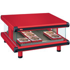 Hatco GR2SDS-24 Warm Red Glo-Ray Designer 24 inch Slanted Single Shelf Merchandiser - 120V