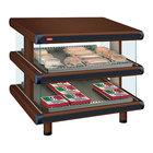 Hatco GR2SDS-48D Antique Copper Glo-Ray Designer 48 inch Slanted Double Shelf Merchandiser