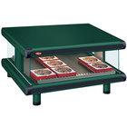 Hatco GR2SDS-48 Hunter Green Glo-Ray Designer 48 inch Slanted Single Shelf Merchandiser - 120V
