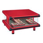 Hatco GR2SDS-60 Warm Red Glo-Ray Designer 60 inch Slanted Single Shelf Merchandiser - 120V