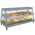 Hatco GRHDH-4PD Gray Granite Stainless Steel Glo-Ray 59 3/8 inch Full Service Dual Shelf Merchandiser with Humidity Chamber