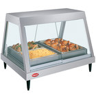 Hatco GRHDH-2P Stainless Steel Glo-Ray 33 3/8 inch Full Service Single Shelf Merchandiser with Humidity Chamber