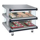 Hatco GR2SDS-54D White Granite Glo-Ray Designer 54 inch Slanted Double Shelf Merchandiser