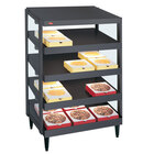 Hatco GRPWS-2418Q Granite Gray Glo-Ray 24 inch Quadruple Shelf Pizza Warmer - 1920W