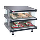 Hatco GR2SDS-54D Gray Granite Glo-Ray Designer 54 inch Slanted Double Shelf Merchandiser
