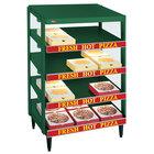 Hatco GRPWS-3624Q Hunter Green Glo-Ray 36 inch Quadruple Shelf Pizza Warmer - 3600W