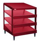 Hatco GRPWS-2424T Wine Red Glo-Ray 24 inch Triple Shelf Pizza Warmer - 1800W