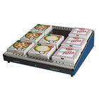 Hatco GRPWS-2424 Navy Blue Glo-Ray 24 inch Single Shelf Pizza Warmer - 480W