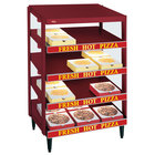 Hatco GRPWS-2424Q Wine Red Glo-Ray 24 inch Quadruple Shelf Pizza Warmer - 2400W