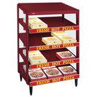 Hatco GRPWS-2424Q Wine Red Glo-Ray 24 inch Quadruple Shelf Pizza Warmer - 2400W