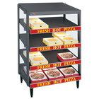 Hatco GRPWS-3624Q Granite Gray Glo-Ray 36 inch Quadruple Shelf Pizza Warmer - 3600W