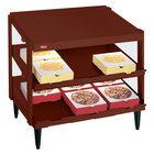Hatco GRPWS-2424D Antique Copper Glo-Ray 24 inch Double Shelf Pizza Warmer - 1200W