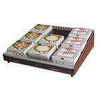 Hatco GRPWS-2424 Antique Copper Glo-Ray 24 inch Single Shelf Pizza Warmer - 480W