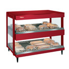 Hatco GRSDH-41D Warm Red Glo-Ray 41 inch Horizontal Double Shelf Merchandiser