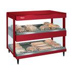 Hatco GRSDH-41D Warm Red Glo-Ray 41 inch Horizontal Double Shelf Merchandiser