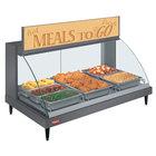 Hatco GRCD-3P Gray 45 inch Glo-Ray Full Service Single Shelf Merchandiser - 120V, 1005W