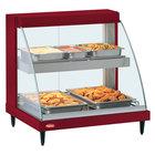 Hatco GRCD-1PD Red 20 inch Glo-Ray Full Service Double Shelf Merchandiser - 120V, 860V