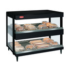 Hatco GRSDH-52D Black Glo-Ray 52 inch Horizontal Double Shelf Merchandiser