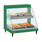Hatco GRCD-2PD Green 32 inch Glo-Ray Full Service Double Shelf Merchandiser - 120V, 1210W