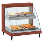 Hatco GRCD-1PD Copper 20 inch Glo-Ray Full Service Double Shelf Merchandiser - 120V, 860W