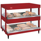 Hatco GRSDH-24D Warm Red Glo-Ray 24 inch Horizontal Double Shelf Merchandiser - 120V
