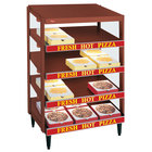 Hatco GRPWS-4818Q Antique Copper Glo-Ray 48 inch Quadruple Shelf Pizza Warmer - 3840W