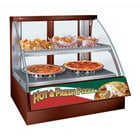 Hatco FSCDH-2PD Copper Flav-R-Savor Convected Air Curved Front Display Case with Humidity Control