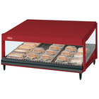 Hatco GRSDS-60 Warm Red Glo-Ray 60 inch Slanted Single Shelf Merchandiser - 120V