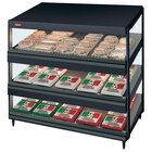 Hatco GRSDS-36T Black Glo-Ray 36 inch Slanted Triple Shelf Merchandiser