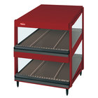 Hatco GRSDS-52D Warm Red Glo-Ray 52 inch Slanted Double Shelf Merchandiser
