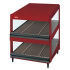 Hatco GRSDS-52D Warm Red Glo-Ray 52 inch Slanted Double Shelf Merchandiser