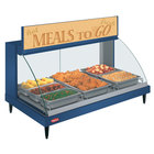 Hatco GRCDH-3P Navy 46 inch Glo-Ray Full Service Single Shelf Merchandiser with Humidity Controls - 1255W