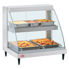 Hatco GRCDH-1PD White 20 inch Glo-Ray Full Service Double Shelf Merchandiser with Humidity Controls - 1110W