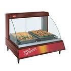 Hatco GRCDH-2P Copper 33 inch Glo-Ray Full Service Single Shelf Merchandiser with Humidity Controls - 1030W