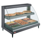 Hatco GRCDH-3PD Gray 46 inch Glo-Ray Full Service Double Shelf Merchandiser with Humidity Controls - 1960W