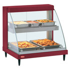 Hatco GRCDH-1PD Red 20 inch Glo-Ray Full Service Double Shelf Merchandiser with Humidity Controls - 1110W