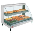 Hatco GRCDH-3PD White 46 inch Glo-Ray Full Service Double Shelf Merchandiser with Humidity Controls - 1960W