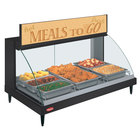 Hatco GRCDH-3P Black 46 inch Glo-Ray Full Service Single Shelf Merchandiser with Humidity Controls - 1255W