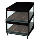 Hatco GRSDS-60D Black Glo-Ray 60 inch Slanted Double Shelf Merchandiser