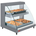 Hatco GRCDH-2PD Gray 33 inch Glo-Ray Full Service Double Shelf Merchandiser with Humidity Controls - 1210W