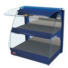 Hatco GRCMW-1DH Navy Glo-Ray 26 inch Self Service Double Shelf Curved Merchandising Warmer - 1660W