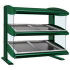 Hatco HZMS-24D Hunter Green 24 inch Slanted Double Shelf Heated Zone Merchandiser - 120V