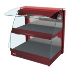 Hatco GRCMW-1DH Red Glo-Ray 26 inch Self Service Double Shelf Curved Merchandising Warmer - 1660W