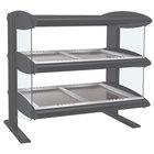 Hatco HZMH-24D Gray Granite 24 inch Horizontal Double Shelf Heated Zone Merchandiser - 120V
