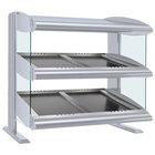 Hatco HZMS-24D White Granite 24 inch Slanted Double Shelf Heated Zone Merchandiser - 120V