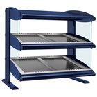 Hatco HZMS-42D Navy Blue 42 inch Slanted Double Shelf Heated Zone Merchandiser