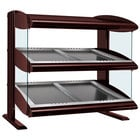 Hatco HZMS-42D Antique Copper 42 inch Slanted Double Shelf Heated Zone Merchandiser